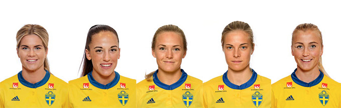 5 clients in Sweden's WCQ games against Ukraine and Denmark